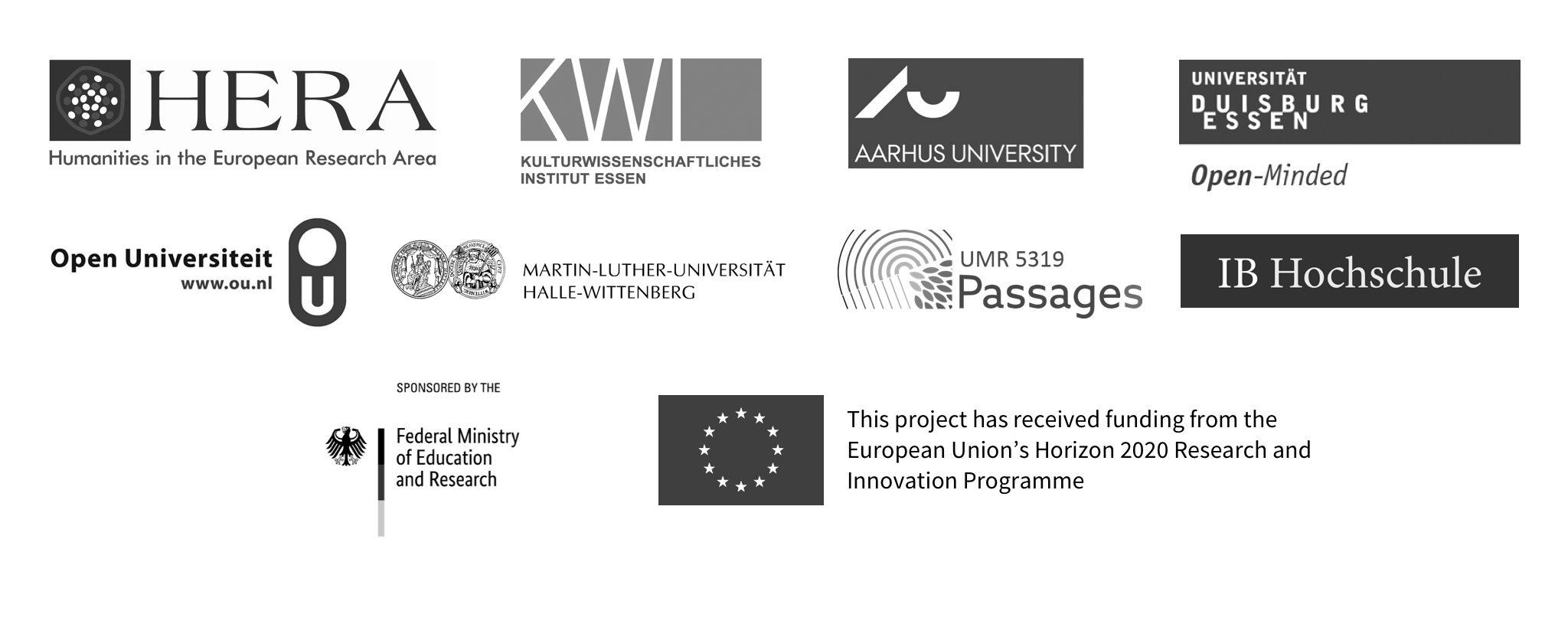 Narcotic City Partner Universities and Funding Logos 2021